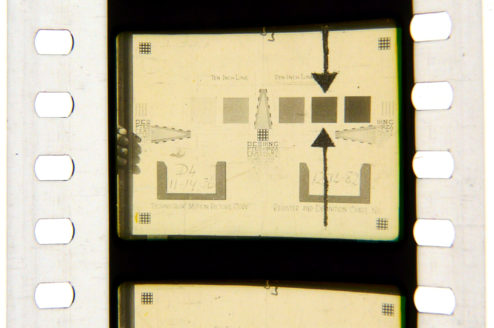 Technicolor Register and Definition Chart. From a positive nitrate print of reel 1 of 'Gone With The Wind' (1939).